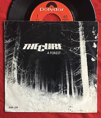 """THE CURE - A Forest - Rare Polydor 7"""" +Picture Sleeve / Dutch Pressing (Vinyl)"""