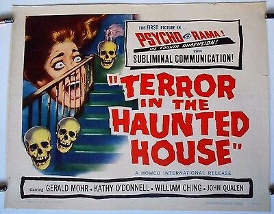 Terror in the Haunted House 1959 Half Sheet Poster PsychoRama horror sci-fi