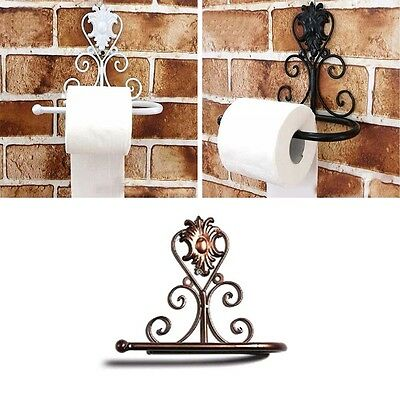 Paper Roll Holder Toilet Rack Kitchen Bathroom Wall Mounted Towel Storage Rack