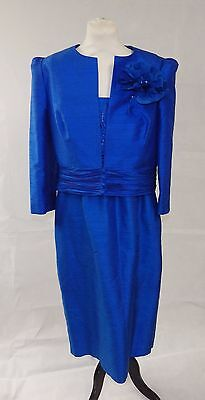 Condici Royal Blue Silk Dress & Jacket 'Mother of the Bride/Garden Party' UK16