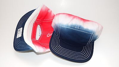 Nwt New Hat Cap Adjustable Strap Fits All Blue Red White (B9)
