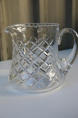 Stylish Bohemia Crystal Jug 15 Cm Tall Diamond Cut
