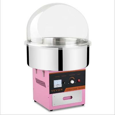 New Electric Cotton Candy Machine Pink Floss Carnival Commercial Maker W/ Cover