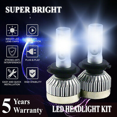 2Pcs H7 LED Lamp Headlight Kit200W 20000LM Car Low Beam Bulbs 6500K
