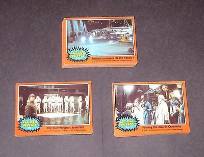 1977 Topps Star Wars 5th Series 5 Complete 66 Orange Trading Card Set EX+