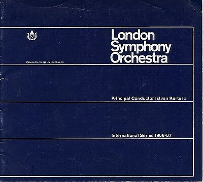 Concert Programme - Mozart & Brucker Sym 8 - Lso/bishop/horenstein Rfh April1967