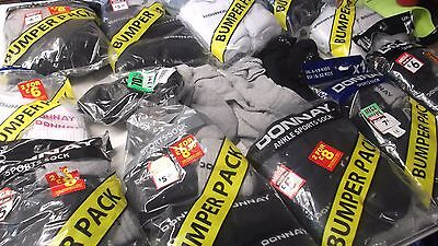 Joblot  103  Pairs Sports Liner Socks  Donnay  Mixed Adult Trainers Car Boot