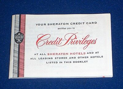 Sheraton Hotels Credit Card Privileges Pocket Guide 1955 Stores Rentals +