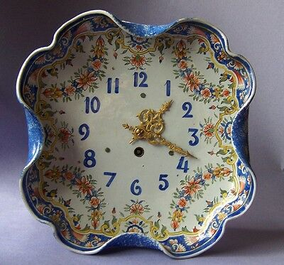 Porquier Beau QUIMPER clock  FRENCH faience pottery