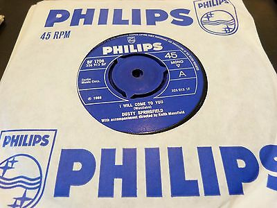 Dusty Springfield -I Will Come To You / The Colour Of Your Eyes :philips 45 :ex