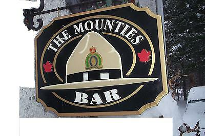 The Rcmp ,mounties Hat Wooden  Bar Sign