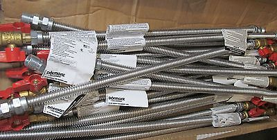 """25-Pack Dormont 20-3135-24 Stainless Steel Gas Line Connectors W/1/2"""" Ball Valve"""