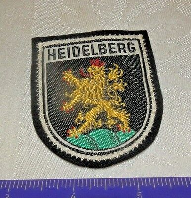 HERALDRY  LION * City of  HEIDELBERG Germany * Souvenir Travel Patch