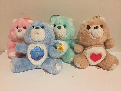 "Vintage Care Bears 6"" Plush Set Of 4 Grumpy, Tender Heart, Bedtime, Lov-a-lot"