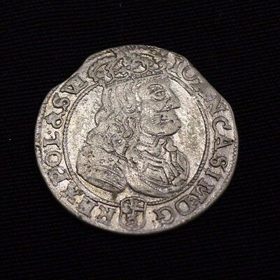 POLAND 1667 6 groschen John II Casimir , very nice coin