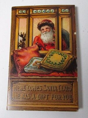 Early 1900's Dennison Christmas Money Holder Card for Half Dollar Coin