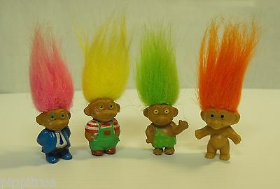 TROLL lot Mini magnetic fridge magnet lot of 4 trolls JSNY and RUSS 3 dressed