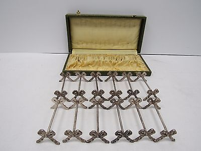 Boxed Set of 12 Beautiful Vintage Knife Rests with Bow Detailing - FIS L89