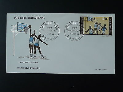 basketball FDC Central African Republic 74028