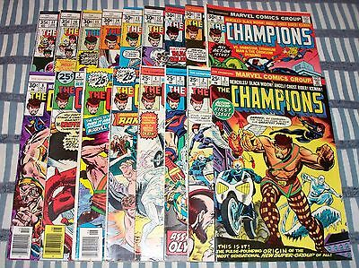 Marvel Comics The Champions Lot of 17 Comics Complete Set #1-17 from 1975 up