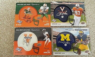 NFL and college cards lot with auto's and jersey cards