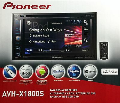 "NEW Pioneer AVH-X1800S 2-DIN In-Dash DVD/CD/AM/FM Car Stereo w/ 6.2"" Touchscreen"