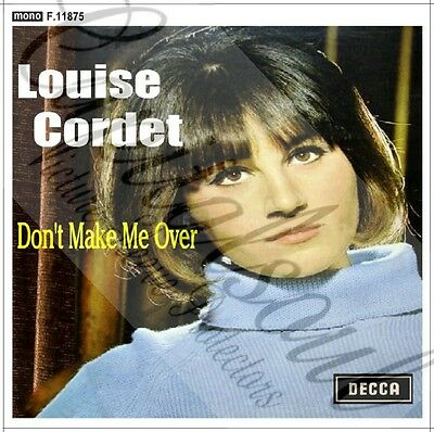 60S Mod Soul Decca Louise Cordet Don't Make Me Over Picture Sleeve