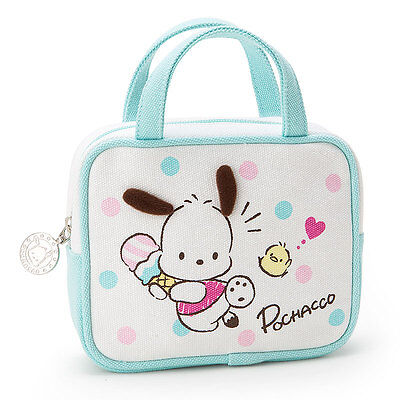 2017 Sanrio Pochacco PC Dog Cosmetic Bag Multipurpose Purse Pouch~ NEW