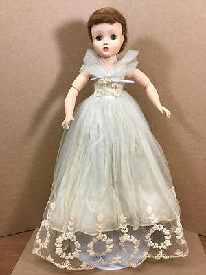 "Vintage Madame Alexander 15"" Elise Bride Doll In Wreath Wedding Gown"