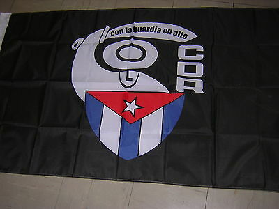 100% NEW reproduced Flag of the Emblema CDR Cuban Cuba Ensign, 3ftX5ft