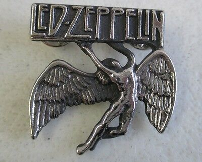 Vintage Original Led Zeppelin Icarus Pin Swan Song Records