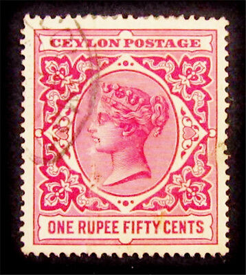 nystamps British Ceylon Stamp # 142 Used $30
