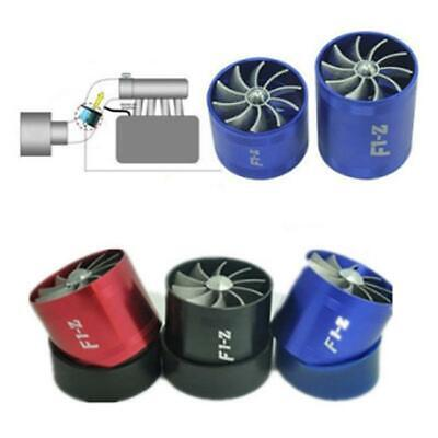 Turbonator Turbo Supercharger Air Intake Dual Fan Propeller Gas Fuel Saver LA