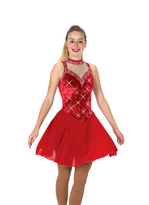 New Jerrys Skating Ice Dance Dress 134 Ballroom Bling Made on Order Youth  Adult