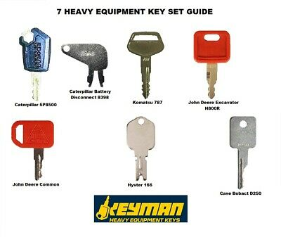 Keyman 7 Heavy Equipment/Construction Keys Set