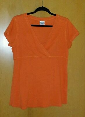 Motherhood Maternity XL Orange Shirt Top Blouse Nursing