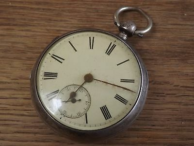 Norwich Good Antique Solid Silver  Gents  Fusee Pocket Watch