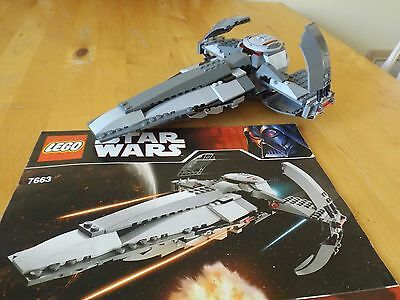 Lego Star Wars Set 7663 Sith Infiltrator Incomplete With Instructions
