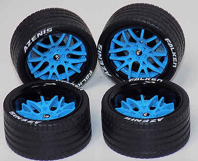 1/18 AB Forgiato Lamborghini Ferrari 4 blue wheels blue calipers tires 1003
