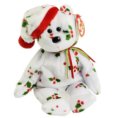 TY Beanie Baby - 1998 HOLIDAY TEDDY (8.5 inch) - MWMTs Stuffed Animal Toy