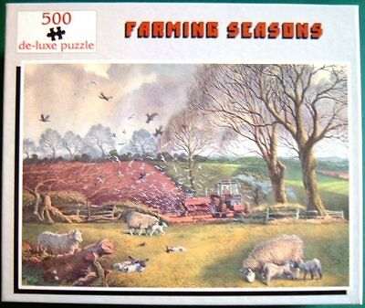 Tractor Jigsaw Puzzle 500 pieces Seed Drilling,Farming near Shangton, Leicester
