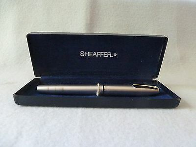 Boxed Sheaffer White Spot Brushed Steel Fountain Pen