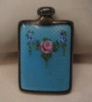 Sterling Silver Enamel Perfume Bottle