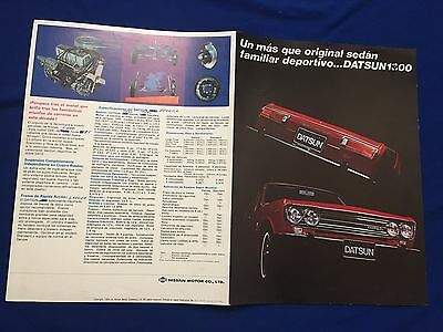 Vintage 1969 Datsun 1400 Brochure Spanish Text Printed In Japan