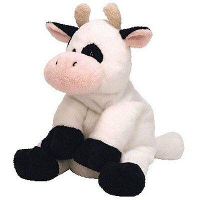 TY Pluffies - MILKERS the Cow (9 inch) - MWMTs Stuffed Animal Toy