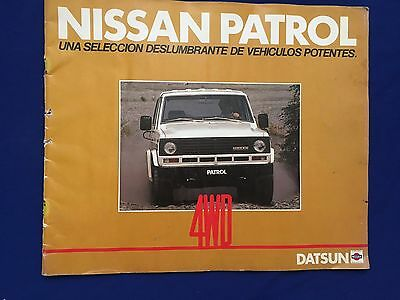 Vintage 1970's Nissan Patrol Brochure Spanish Text Printed In Japan