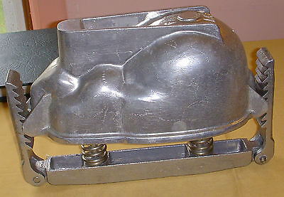 Unique Rare Aluminum Adjustable 2 Piece Rabbit Mould marked FAV with numbers
