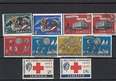 Jamaica.10 -- 1962/3 Mounted Mint/ Used Stamps On Stockcard