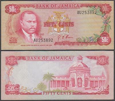 L. 1960 (1970) Bank of Jamaica 50 Cents (XF+)