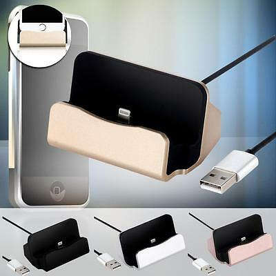 Desktop Charger Docking Station Sync Charger Stand Cradle for iPhone 5/5S/6s SR